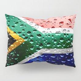 Flag of South Africa - Raindrops Pillow Sham