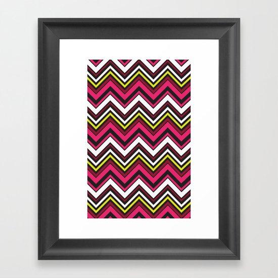 Pink Chevron Framed Art Print