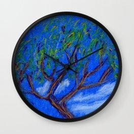 REALLY Blue Bonsai Wall Clock