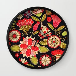 Blooms Butterflies and Ladybugs Wall Clock
