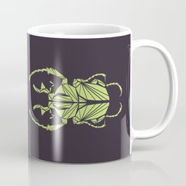 Envious Beetle - Geometric Insect Design Coffee Mug
