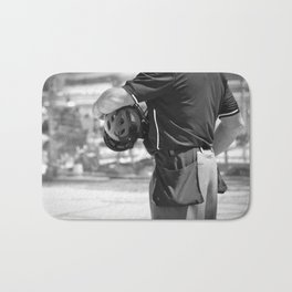 Umpire in Black and White Bath Mat