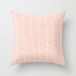 Baesic Herringbone (Coral) Throw Pillow