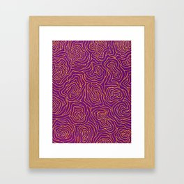 Abstract by Yayoi kusam Framed Art Print