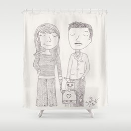 Peggy and Howard and Tony Shower Curtain