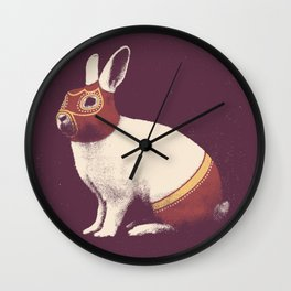 Lapin Catcheur (Rabbit Wrestler) Wall Clock