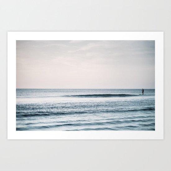 Peace and Ocean Art Print