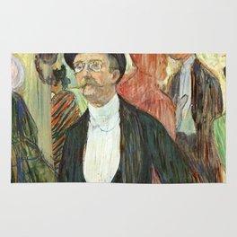 """Henri de Toulouse-Lautrec """"Monsieur Henri Fourcade au Bal de l'Opéra"""" Rug"""