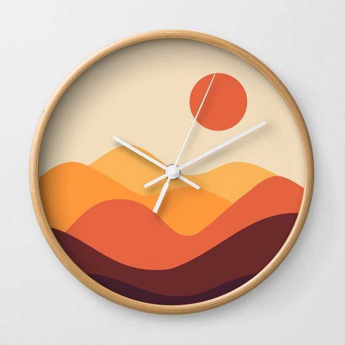 Geometric Landscape 21 Wall Clock
