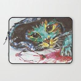 Emerald cat Laptop Sleeve