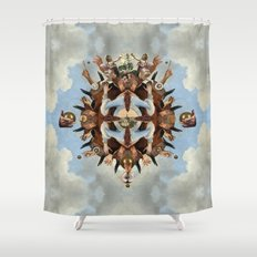Temple II Shower Curtain