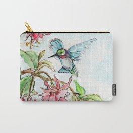 Honeysuckle Hummingbird Carry-All Pouch