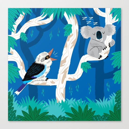 The Koala and the Kookaburra (version 2) Canvas Print