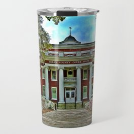Springtime At The Old Horry County Courthouse Conway SC Travel Mug