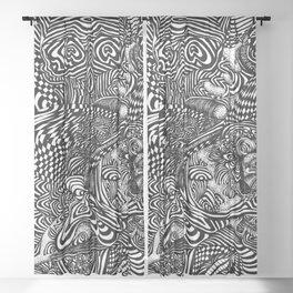 Liquid Skull Sheer Curtain