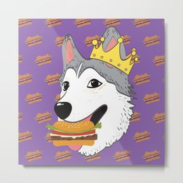 Aegis the Siberian Husky Metal Print