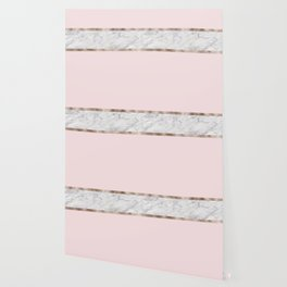 Strawberries and cream - grey marble & rose gold Wallpaper