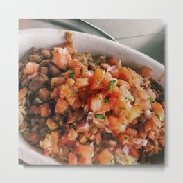 Food: Chipotle Bowl Metal Print