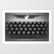 in black and white Art Print