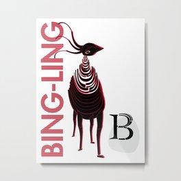 B| Bing-Ling Metal Print