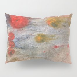 Rosy brown clouded wash painting Pillow Sham