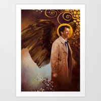 castiel Art Prints featuring Castiel by quercusrubra