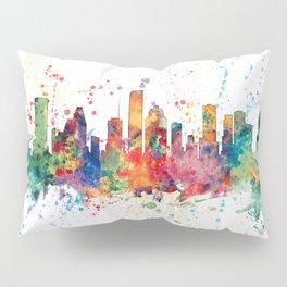Houston Texas Skyline Pillow Sham
