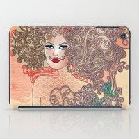 moustache iPad Cases featuring Moustache by daniela grigore