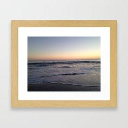 High Tide Nears Framed Art Print