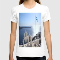 greece T-shirts featuring Greece by Shine Like Sunbeams