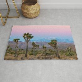 Sunrise Joshua Tree Desert Vibes (Blue and pink) Rug