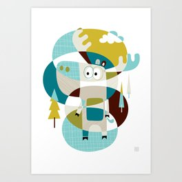 Moose on the loose Art Print