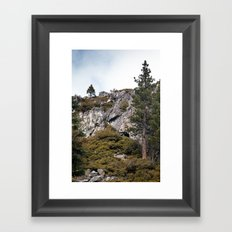 Mountains and Forest, Lake Tahoe Framed Art Print