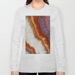 Rusty Amethyst Agate Long Sleeve T-shirt