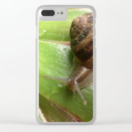 Snail on a Mission Clear iPhone Case