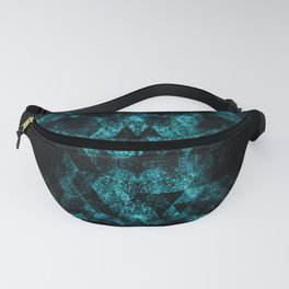 Triangle Geometric Turquoise Smoky Space Fanny Pack