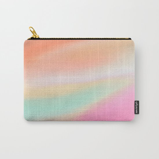 Digital painted texture illustration, pastel soft colors Carry-All Pouch