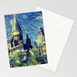 Hogwarts Starry Night Fantasy Castle Tapestry Stationery Cards