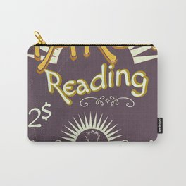 Tarot Reading vintage chalk poster Carry-All Pouch