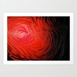 Complex Spiral2-Red Art Print