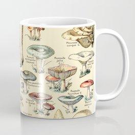 Trippy Vintage Mushroom Chart // Champignons by Adolphe Millot XL 19th Century Science Artwork Coffee Mug