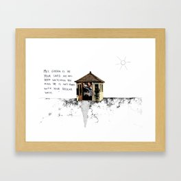 Mel Gibson is in your shed Framed Art Print