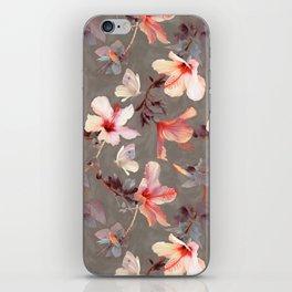 Coral Hibiscus iPhone Skin