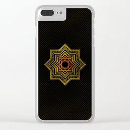 Golden Decorative Star of Lakshmi - Ashthalakshmi Clear iPhone Case