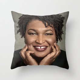 Stacey Abrams Throw Pillow