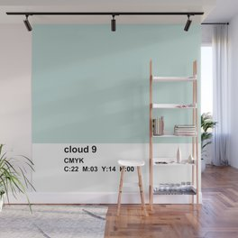 colorblock blue white Wall Mural