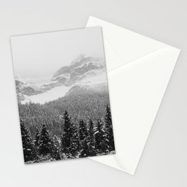 Landscape Photography Winter Wonderland | North Pole | Blizzard Forest Mountain Stationery Cards