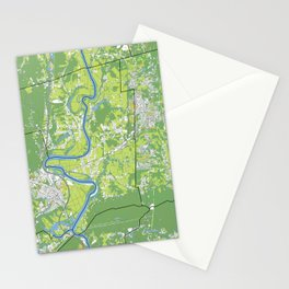 Pioneer Valley map Stationery Cards