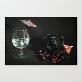 Cosina and Cherry cocktail Canvas Print