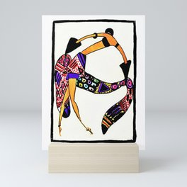 Untitled - Dancer from The Essence of the mode of the day, 1920 by Janine Aghion Mini Art Print